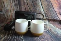 Lot of Vintage Travel Mugs Alarm Clock
