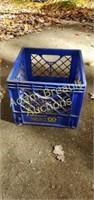 McDonald Flint blue plastic milk crate