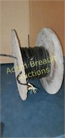 Wooden spool Alcaytel copper cased cable