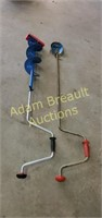 2 steel manual ice augers