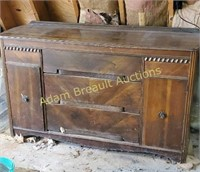 Vintage three drawer, two door Buffet cabinet