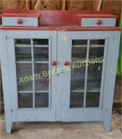 Antique solid wood pie cabinet