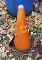 Large orange safety cone