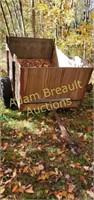 Custom built single axle utility trailer, 46 x