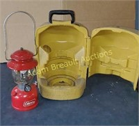 Vintage Coleman model 200A lantern with carrying