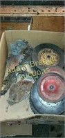 4 boxes assorted parts for snow blowers,
