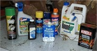 Box lot - Roundup, Qatar mosquito, spray paint,