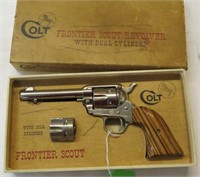 Colt Frontier Scout revolver in box- dual cylinder