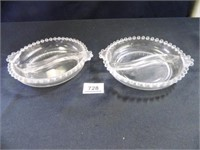 Candlewick Divided Round Bowls