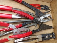 Snap-on panel tool & snap ring pliers