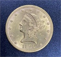 1899 Liberty Head Variety 2 $10 Gold Coin