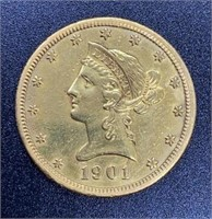1901-S Liberty Head Variety 2 $10 Gold Coin