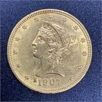 1907 Liberty Head Variety 2 $10 Gold Coin