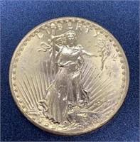 1927 Saint-Gaudens $20 Gold Coin