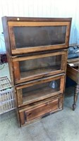 "LAWYER/BARRISTER BOOKCASE, 33x12x62"" tall"