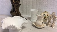 Milk Glass and Assorted Vintage Pieces