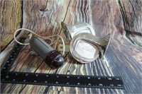Vintage Bike Light   Rede 12 volt Horn Set