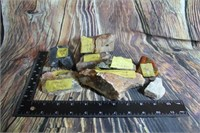 Lot of Cut and Labels Petrified Wood Ect