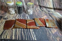 Great Collection of Polished Rocks Agate Coasters