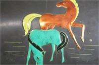 Vintage Metal Box Horses Western Germany