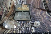 Glass Prism Paperweight Glass Box