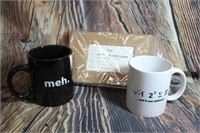 2 Great Coffee Mugs and Luggage Tag Photo Album