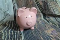 Mason Jar Hangers Pink Pig Piggy Bank