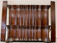 Jonathan Charles king size mahogany bed as is