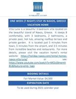 1 week Naxos Greece Home ($4500 Value)