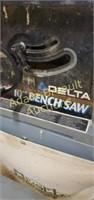 Delta 10-inch bench saw with sawdust catcher