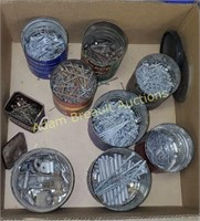 Box of assorted nails and spikes