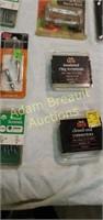 Wood screws, artist brushes, Peg hooks,