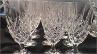 Crystal Pitcher and Set of 12 Crystal Glasses