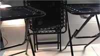 Trio of Outdoor Foldable Side Tables