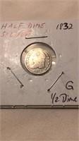 US 1832 Half Dime