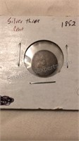 US 1852 Silver Three Cent