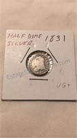 US 1831 Silver Half Dime