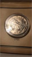 Historic 1946 Walking Liberty Stamp & Coin Set