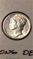 US 1945 Silver Mercury Dime