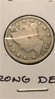 US 1905 Liberty No Cents Nickel