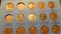 Lincoln Head Cent Collection - Partially Complete