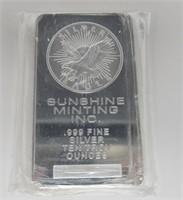 10 oz Silver Bar Sunshine Mint