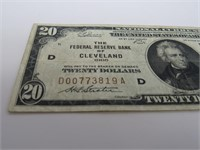 """1929 US """"Cleveland"""" National Currency Brown Note"""