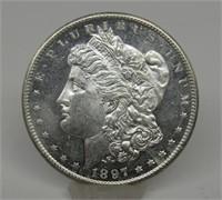 1897-S US Morgan Silver Dollar