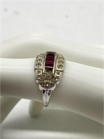 Birthstone Ring, 3.4g Total Weight Marked 14k