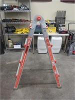 Little giant megalite folding extension ladder