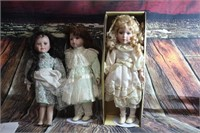 Lot of 3 Collector Dolls