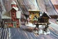 Lot of Christmas Houses and Decor