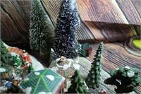 Huge Lot of Christmas Decor Trees Skate Rink
