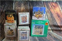 Lot of Christmas Village Houses